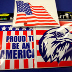 "5"" Asst Style USA Theme Anywhere Magnets .45 ea"