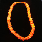 "16"" Neon Orange Puka Shell Choker"