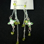 "4"" Multi Chain Designer Look Earring w/ Crystal Beads .25 ea"