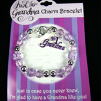 Just For Grandma Charm Bracelet 24 per pk $1.00 ea