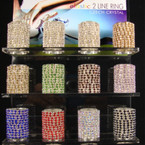 2 Row CZECH Crystal Stretch Ring 72 per display  Now .75 each