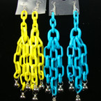 "5"" Multi Link Fashion Earring w/ Silver Dangle Beads .25 ea"