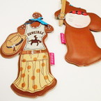 "7"" Western Theme Handmade Luggage Tag 4 per pk .50 EACH"