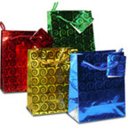 "Mini Size Hologram Gift Bags 3"" X 4"" Mixed Colors .20 EACH"