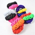 3 Pack Neon Color Braided Shoelace Hair Twisters 12-3 pks per bag