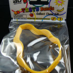 Tasty Silicone Bands Stackable & Scented Novelty Wavy Bands Must. Yellow sold by dz