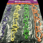 4 Pk Cutout Style Halloween Bracelets 6-4pks per master bag ON SALE