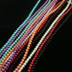 """30"""" Glass Pearl Neck Set 10 Asst Colors  .56 ea"""