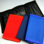 Asst Color Tri Fold Velcro Unisex Wallets 12 per pk .62 each