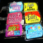 "Inspirational Luggage Tags 36 pc UNIT """"NO DISPLAY""""  ON SALE .55 ea"