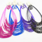 "22"" Multi Line Seed Bead Necklace Set Asst Bright Colors .54 ea pc"
