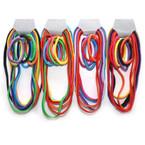 6 Elastic Headbands & 6 Ponytail Holders Asst Colors per set