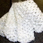 "4 Pk 1.5"" Stretch Crochet Headwraps All White 12-4 pks per bag"