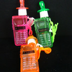 "6"" Cell Phone Bubble Whistle Necklace 24 per display bx .40 ea"