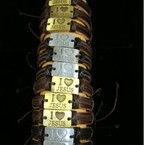Teen Leather Bracelet w/ Gold & Silver I LOVE JESUS Plaque .54 ea