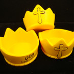 "3"" Mighty Kingdom"" Crown Stress Toys/Cup Holder 12 per display bx"