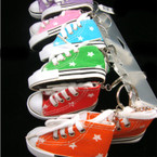 "3"" Sneaker Keychain w/ Star Imprint Asst Colors  .62 EA"