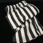 Black & White Stripe Pattern Print Leggings 6 per pack