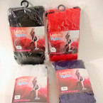 Lady's Knit Footed Tights Xl Size Asst Colors Special $ .65 ea