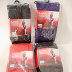 Lady's Knit Footed Tights XLLSize Asst Colors Special .65 ea