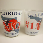 # 1 MOM Florida License Plate Style Shot Glass 12 per bx  .35 each   ON SALE