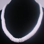 "16"" Graduated Size Puka Shell Disc Necklace All White 12 per pk   $ 1.00  ea"