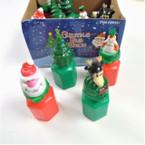 "2.75"" Christmas Theme Bubble Bottles 12 per bx .29 ea"