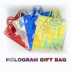 "Hologram Gift Bags Small Size Asst Colors 4.5"" X 6"" .26 ea"