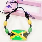 Handmade Jamaica Flag Gift Boxed Bracelet .50 ea
