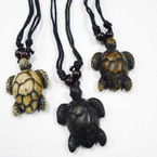 DBL Leather Cord Necklace w/ Turtle Pend.  .54 ea