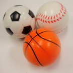 "2"" Sports Theme Relax Ball  12 per pack .42 EACH"