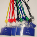 Asst Color Retractable Lanyard w/ Clear ID Holder  .54 ea
