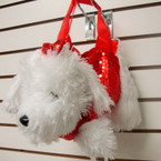 "13"" Fury Sequin Puppy Handbag w/ Handles 12 per pk  Only $3.50 ea"