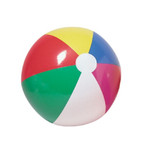 "12"" Inflatable Multi Color Beach Ball 12 per pk .55 ea"