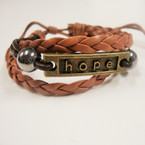 HOPE Leather Multi Strand Bracelet .54 ea