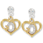 God's Heart Crystal Stone Earrings in Gift Box sold by pr $ 4.50 ea