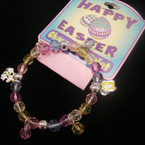 Happy Easter Stretch Charm Bracelet 24 per pack .85 ea
