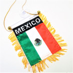 "4"" X 6"" Mini Banner Flag Mexico  .54 ea"