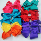 "6"" Mixed Color Gro Grain Gator Clip Bow Only .45 ea"