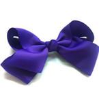 "6"" Dark Purple Color Gro Grain Gator Clip Bow .45 ea"