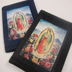 Trifold Wallet Velcro Wallet  w/ Guadalupe Picture 2 colors .56 ea