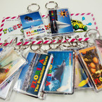 "Big 2"" X 3"" Florida Picture Souvenir Keychains Mixed Styles .50 ea"