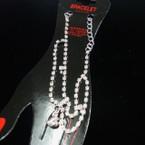 Gold/Sil DBL Line Rhinestone Fashion Bracelet .50 ea