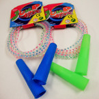 Transparent Cord w/ Color Funtime Jump Rope 12 per pk  .50 ea
