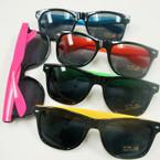 Wayfare Look Fashion Sunglasses Neon w/ Dark Lenses  $1.00 ea