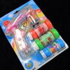 """5.5"""" x 6"""" Bubble Gun w/ Flashing Lights & Sound sold by pc  $2.95 ea"""