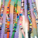 Macrame Bracelet w/ Wood Beads & Air Brushed Surfboard 36 per pack .42 ea