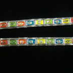 Multi Color JESUS Fish Tile Stretch Bracelet DIY CLOSEOUT .24 ea