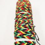 Teen Leather Bracelet Rasta Braided Colors .54 ea