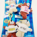 "3"" Plush Faith Bears in T-Shirt w/ Clip Mixed Styles 12 per pack Only .45 ea"